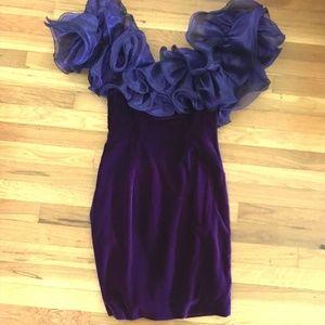 Crushed Velvet Dave & Johnny Vintage Prom Dress